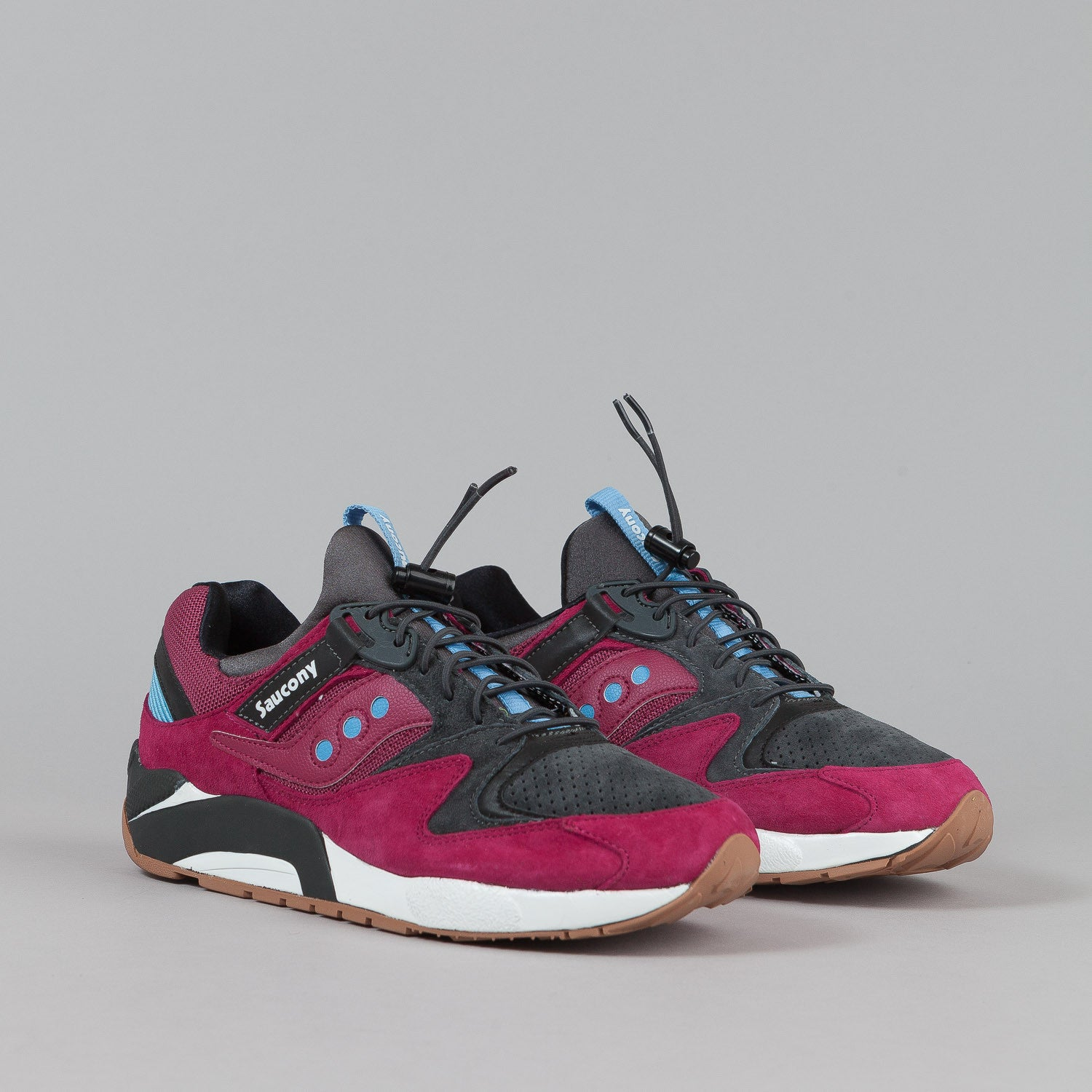 Saucony Grid 9000 Shoes Premium - Red / Charcoal