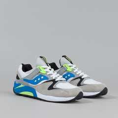 Saucony Grid 9000 Shoes - White / Blue