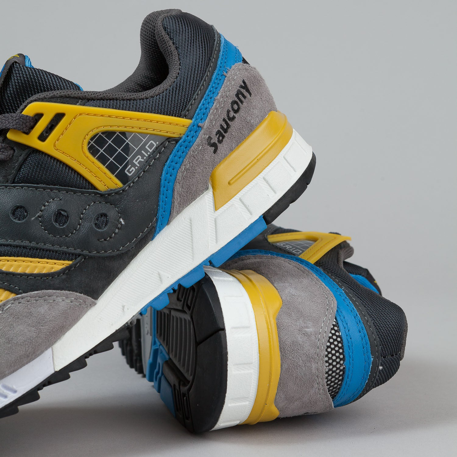 Saucony Grid SD Premium Shoes 'Grid Games' - Grey / Yellow