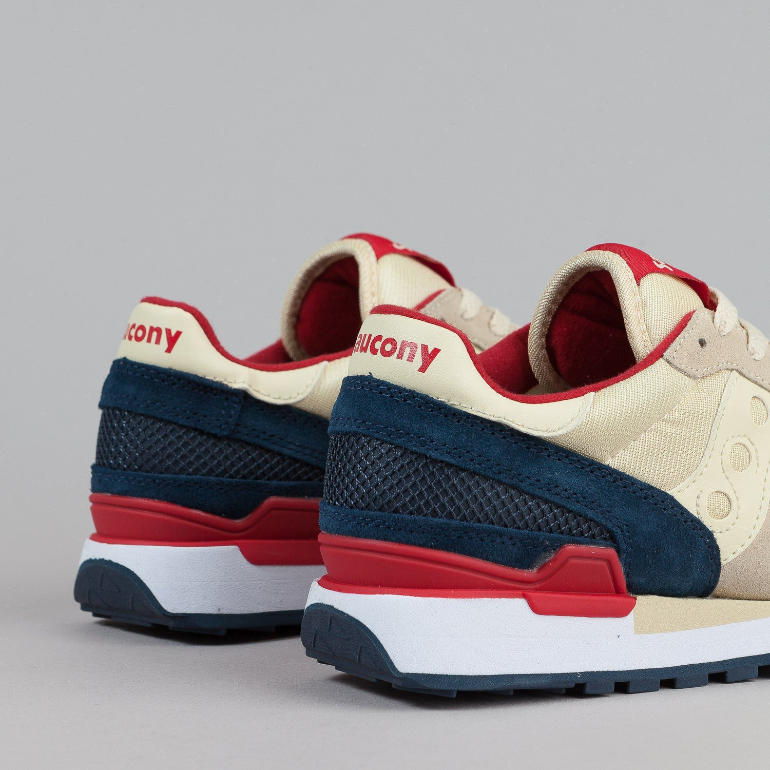 Saucony Shadow Original Shoes - Cream / Navy
