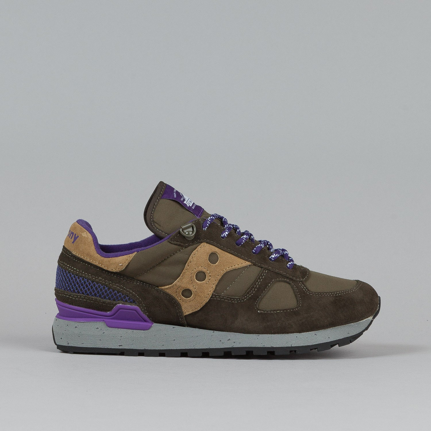 Saucony X Penfield Shadow Original Shoes Olive / Purple