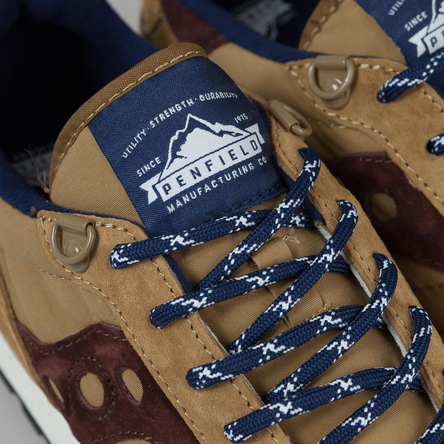Saucony X Penfield Shadow Original Shoes Tan / Navy