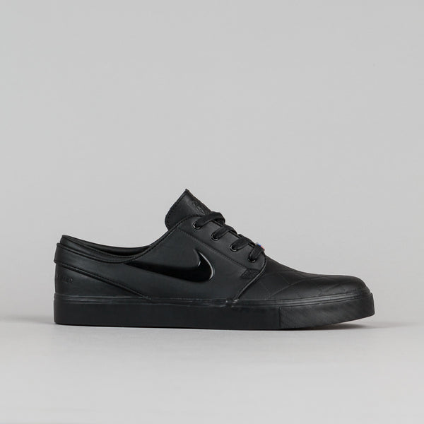 Nike SB Stefan Janoski Elite SB X FB Shoes - Black / Black - Varsity Red