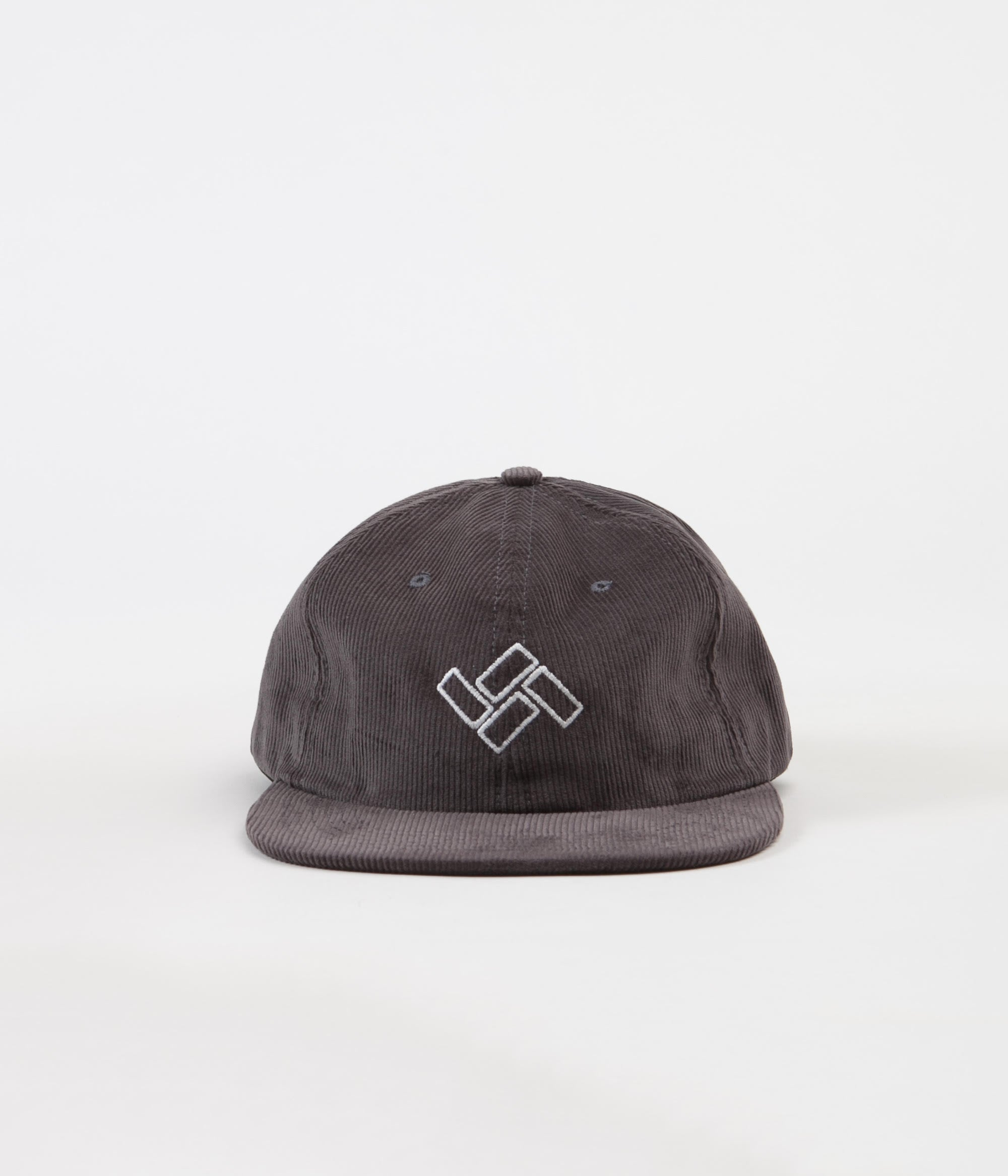 Severn Bricks Cord 6 Panel Cap - Charcoal