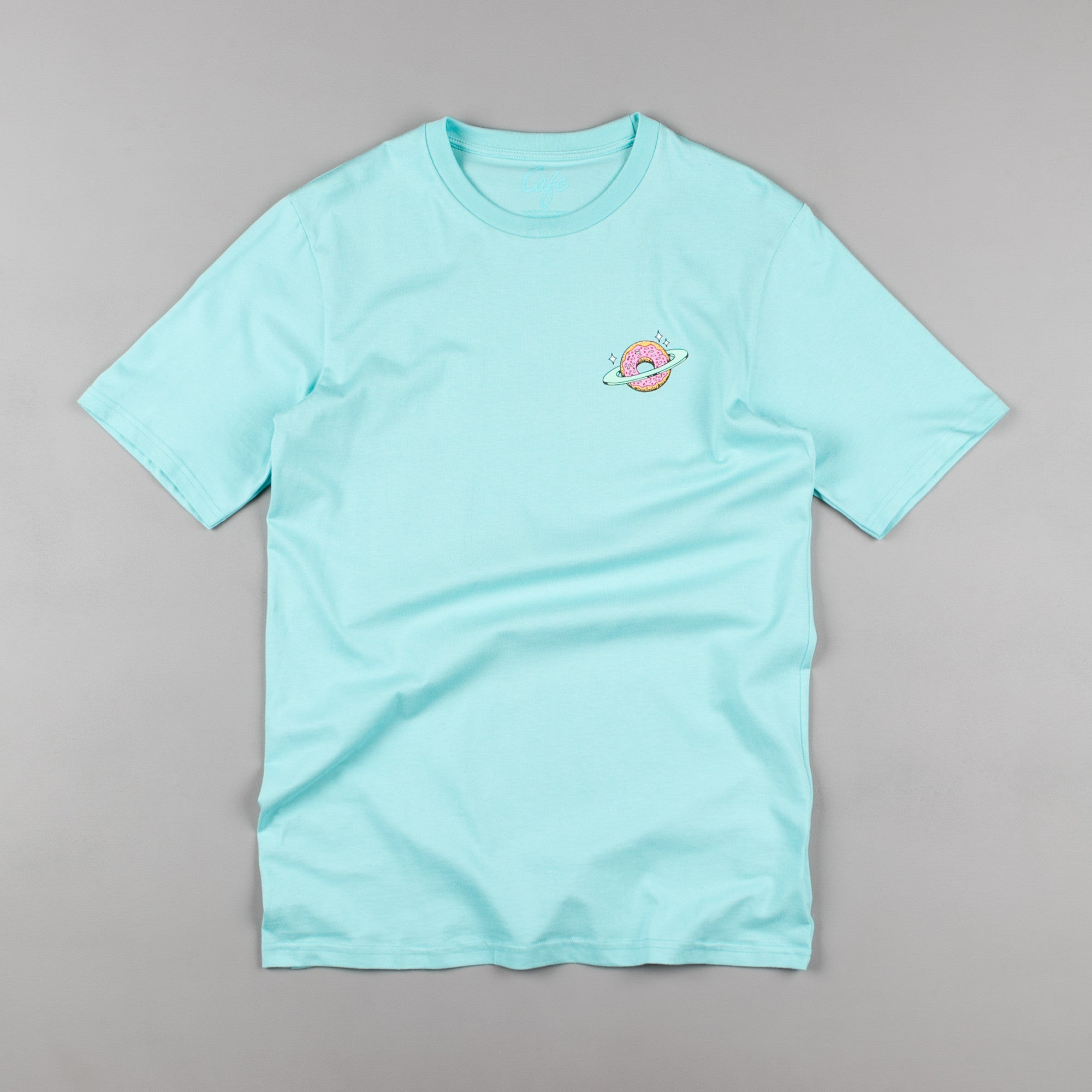 Skateboard Cafe Planet Donut T-Shirt - Aqua