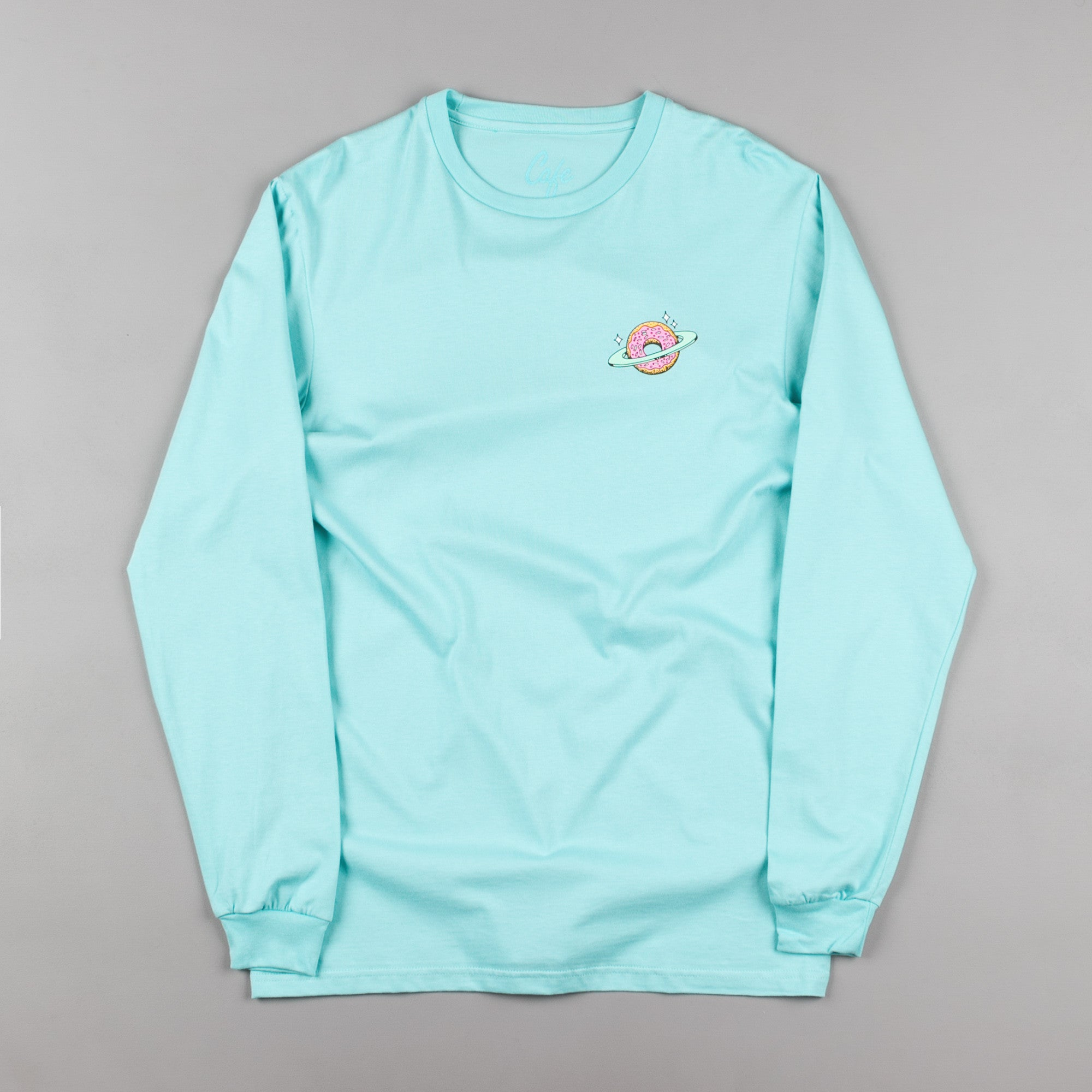 Skateboard Cafe Planet Donut Long Sleeve T-Shirt - Aqua