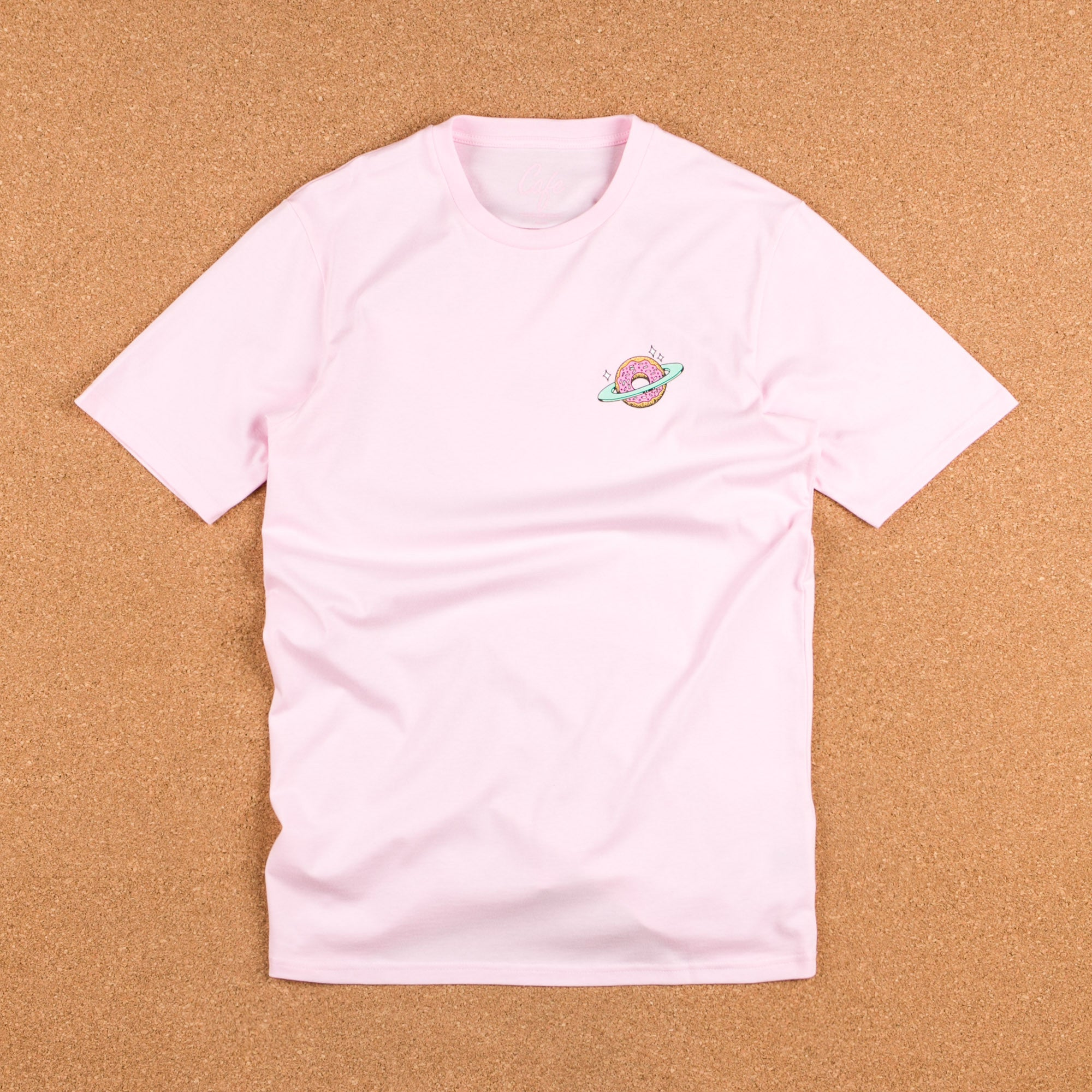 Skateboard Cafe Planet Donut T-Shirt - Pink / Blue