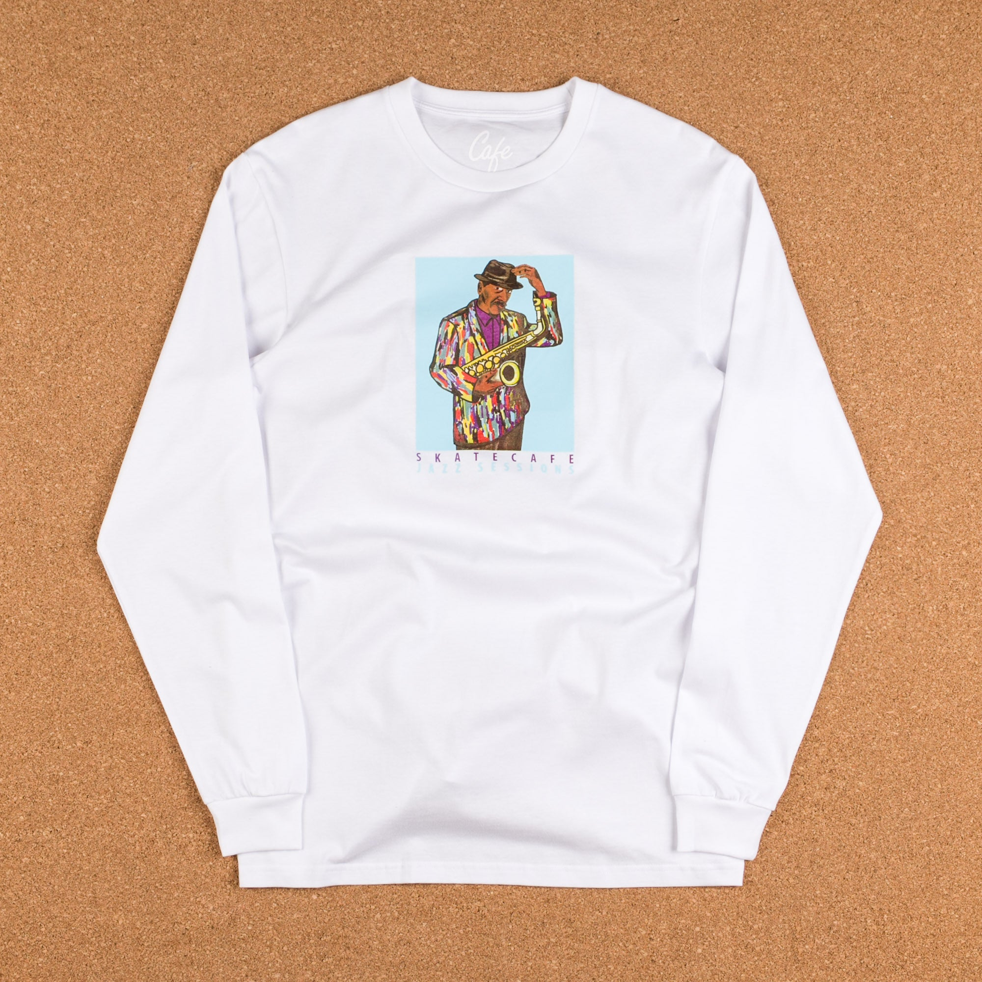 Skateboard Cafe Ornette Long Sleeve T-Shirt - White