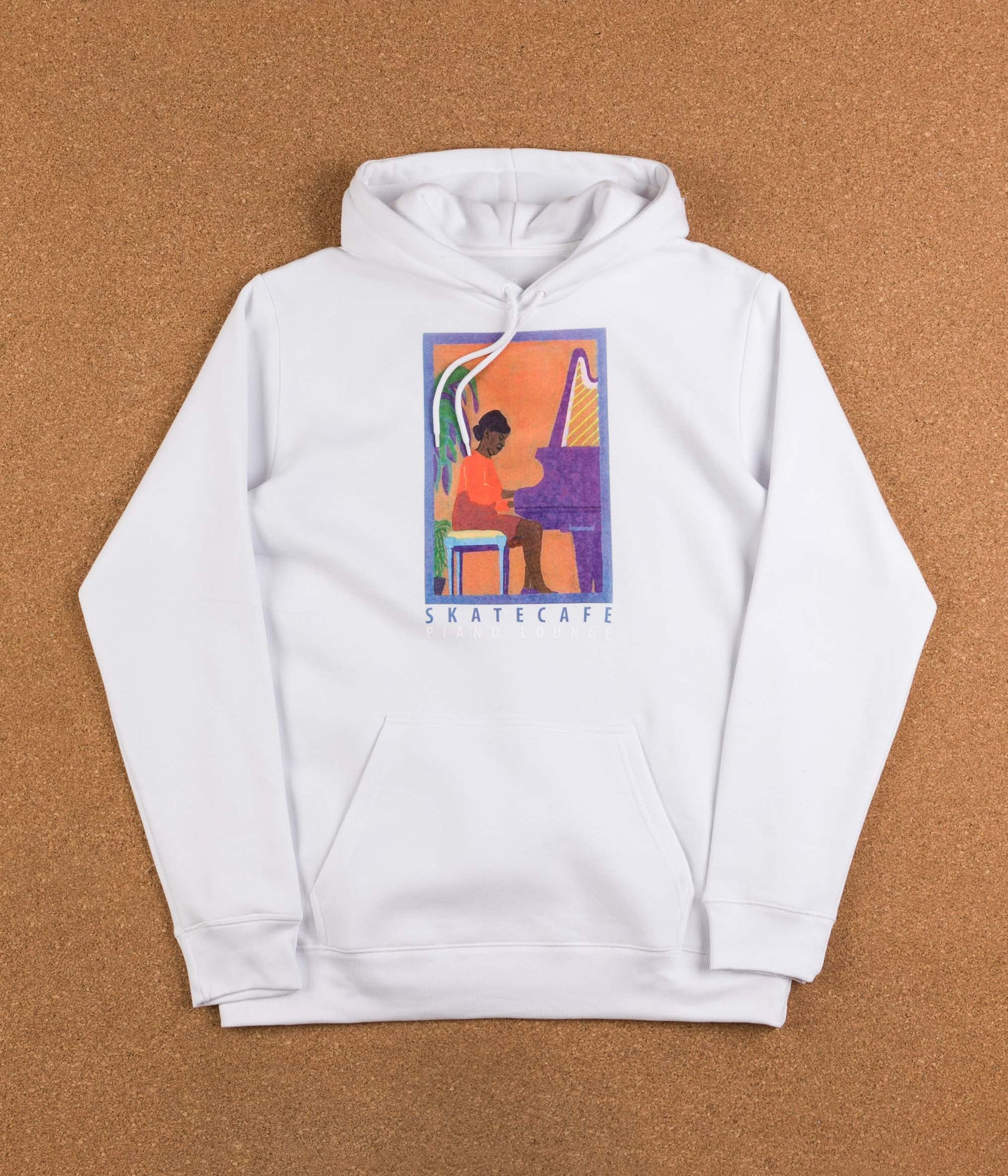 Skateboard Cafe Alice Hooded Sweatshirt - White
