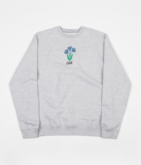 Skateboard Cafe Blues Crewneck Sweatshirt - Heather Grey