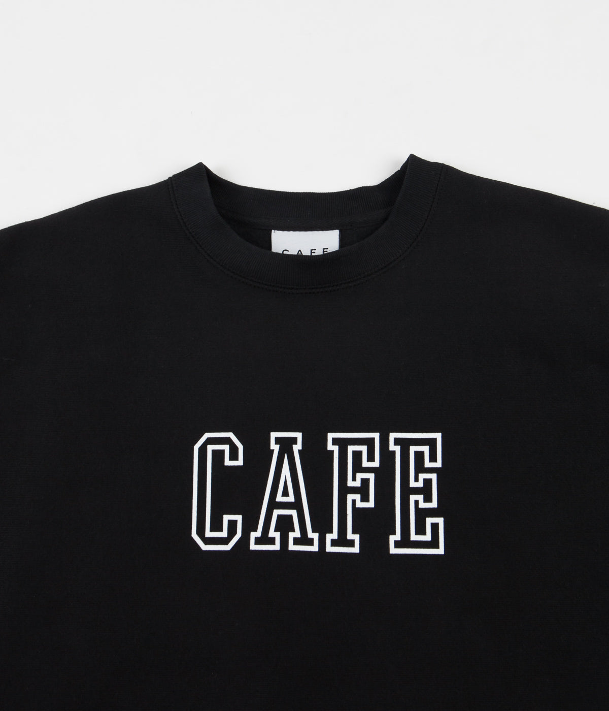 Skateboard Cafe College Heavyweight Oversize Crewneck Sweatshirt - Black