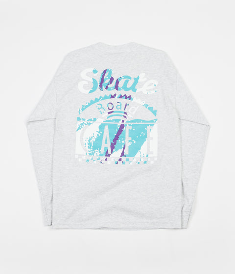 Skateboard Cafe Cup Long Sleeve T-Shirt - Ash Heather