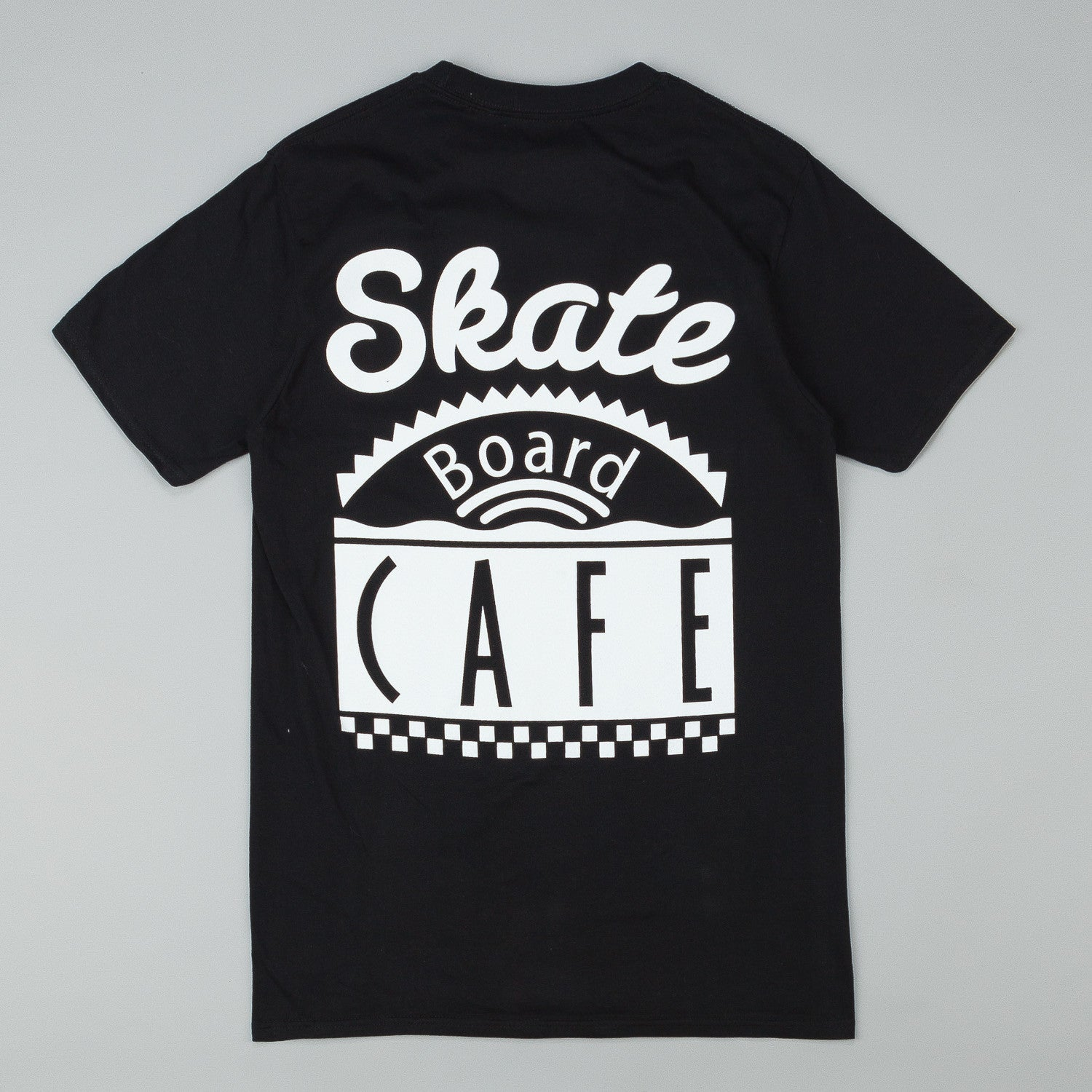 Skateboard Cafe Diner Logo T-Shirt - Black