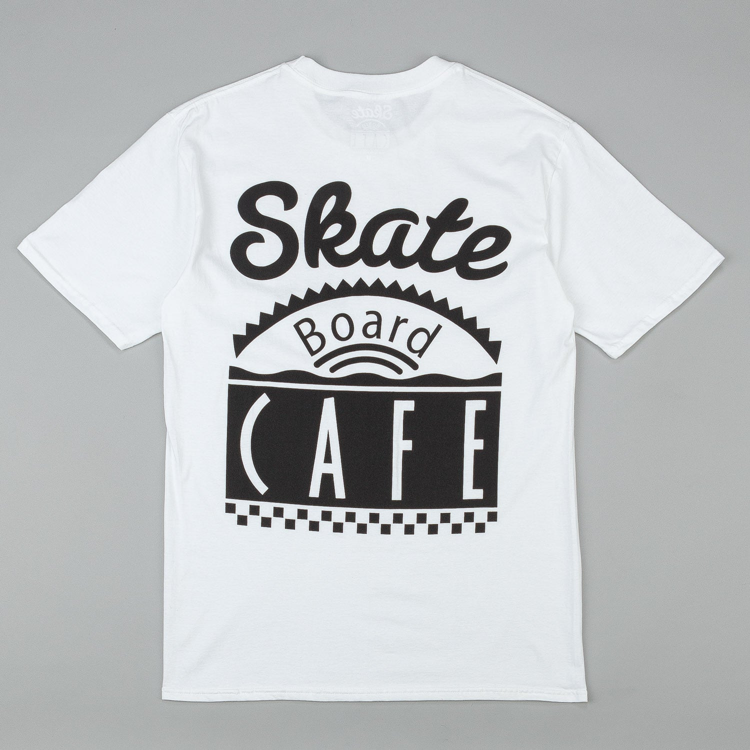 Skateboard Cafe Diner Logo T-Shirt - White