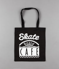 Skateboard Cafe Diner Tote Bag - Black