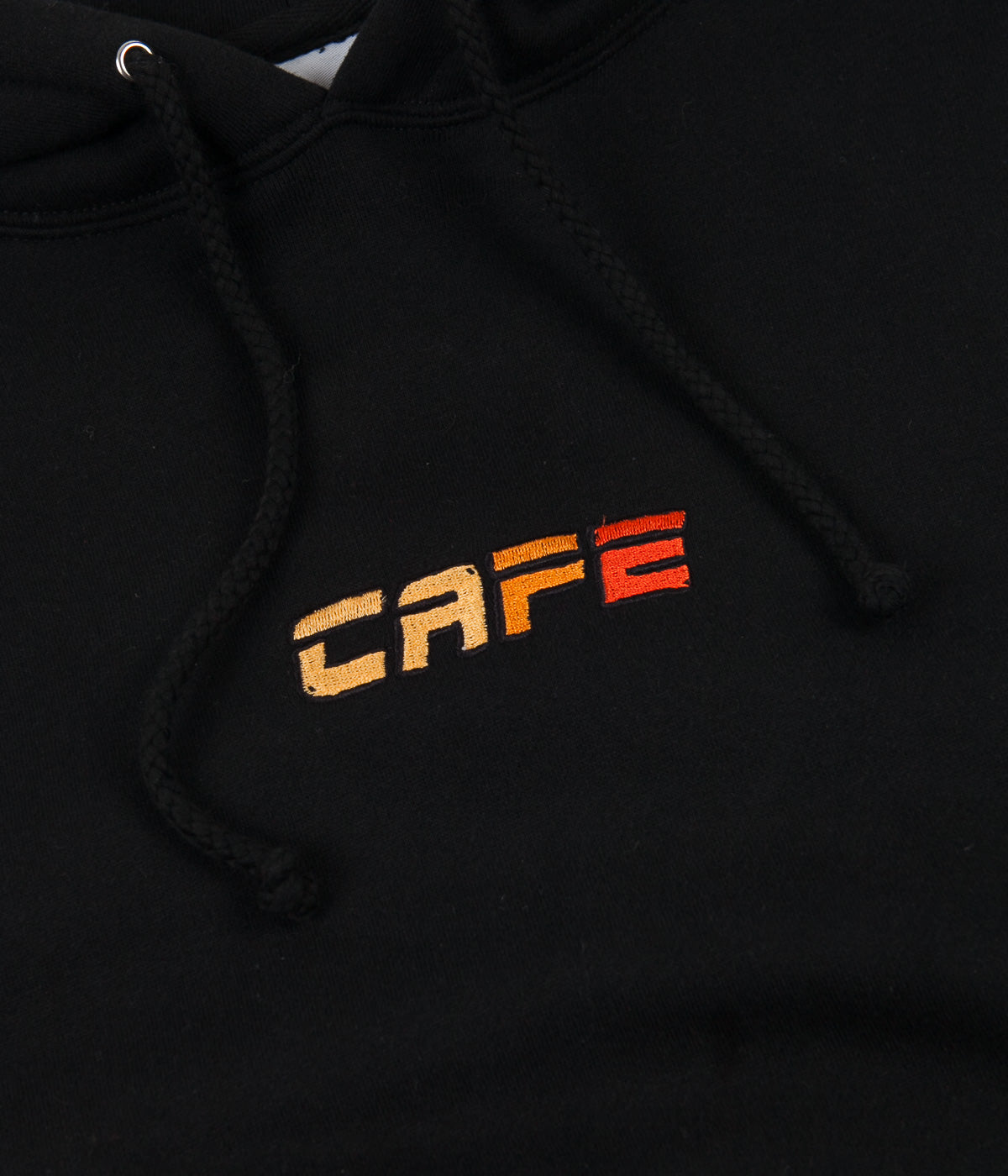 Skateboard Cafe Embroidered Racer Logo Hoodie - Black