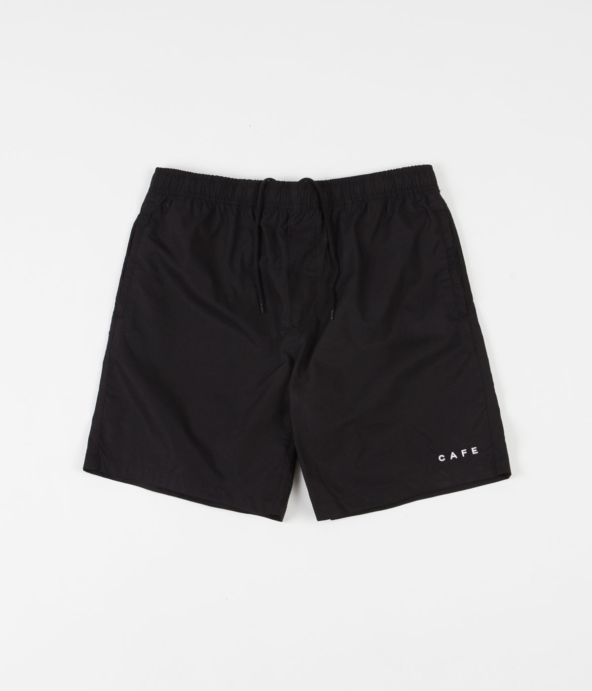 Skateboard Cafe Embroidered Shorts - Black