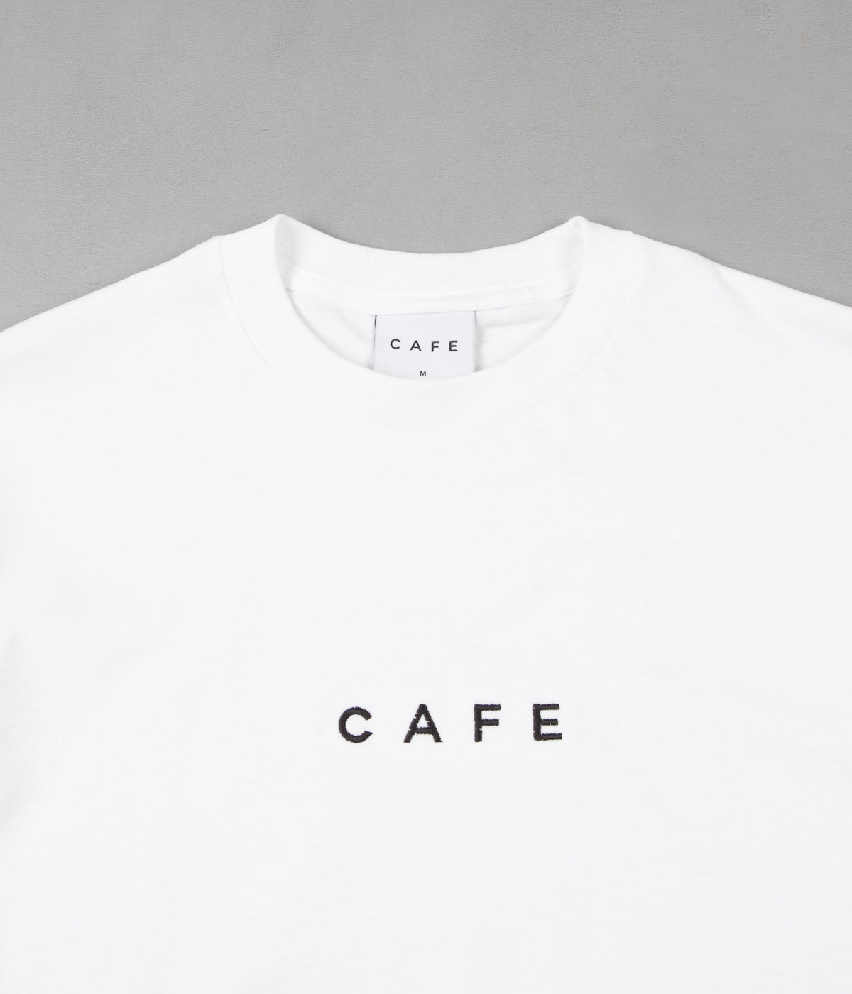 Skateboard Cafe Embroidered T-Shirt - White