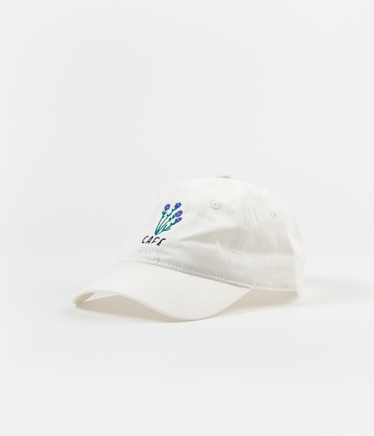 Skateboard Cafe Floral Cap - White