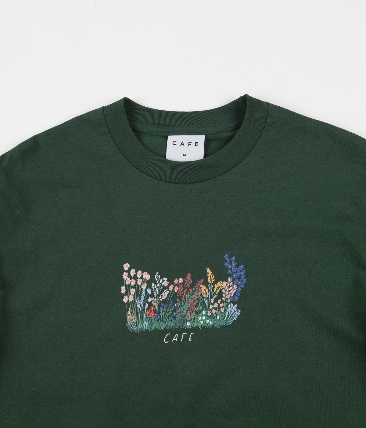 Skateboard Cafe Flower Bed T-Shirt - Forest Green