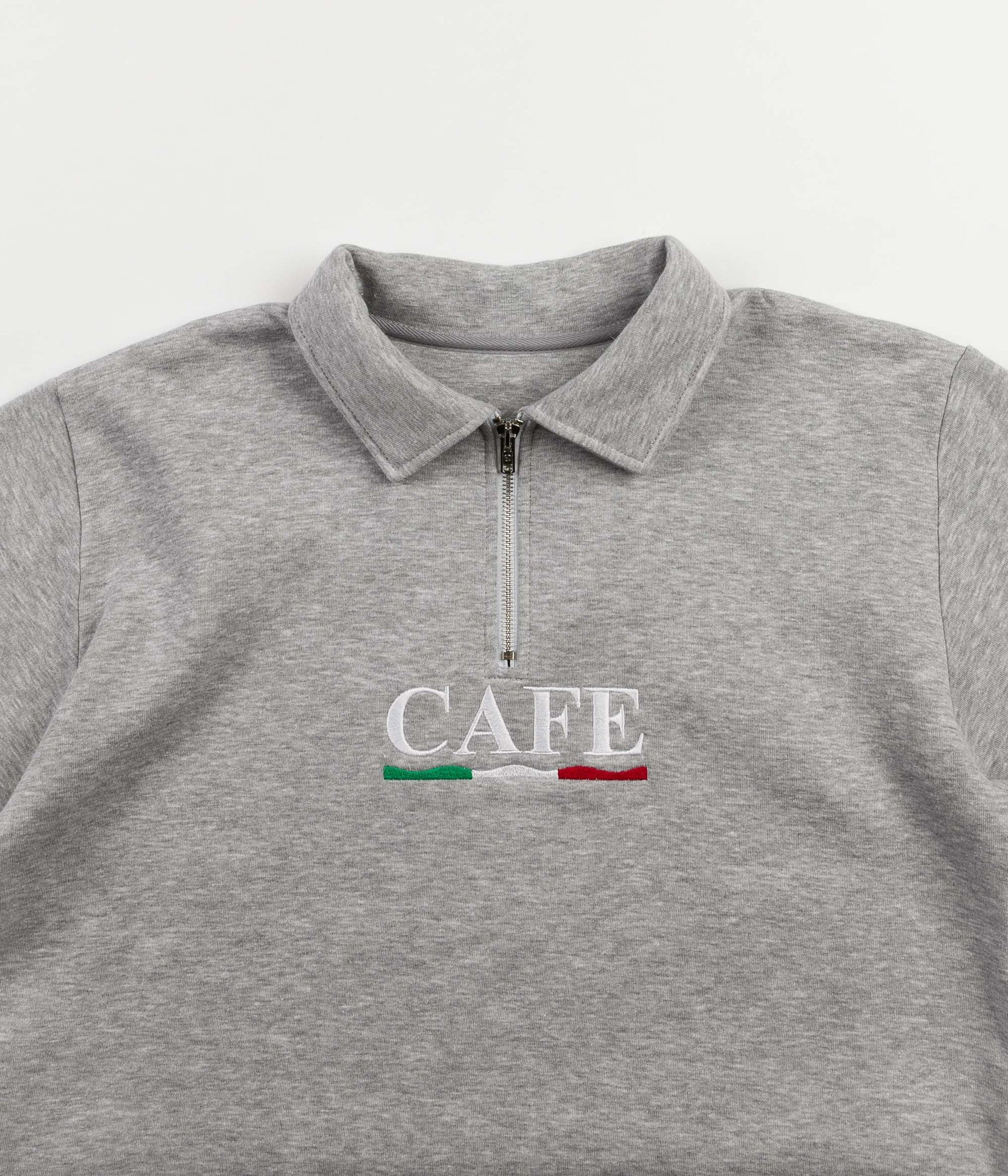 Skateboard Cafe Latte 1/4 Zip Sweatshirt - Grey / Latte