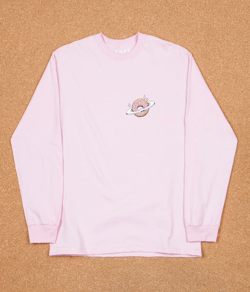 Skateboard Cafe Planet Donut Long Sleeve T-Shirt - Pink