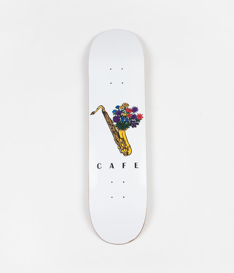 Skateboard Cafe Sax Flowers Deck - White - 8.125""