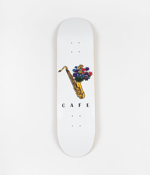 Skateboard Cafe Sax Flowers Deck - White - 8.25""