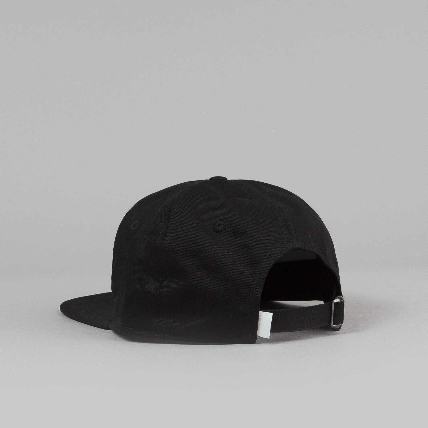 Skateboard Cafe Script Deconstructed 5 Panel Cap - Black