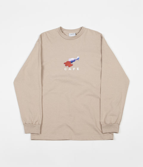 Skateboard Cafe Spill Long Sleeve T-Shirt - Sand