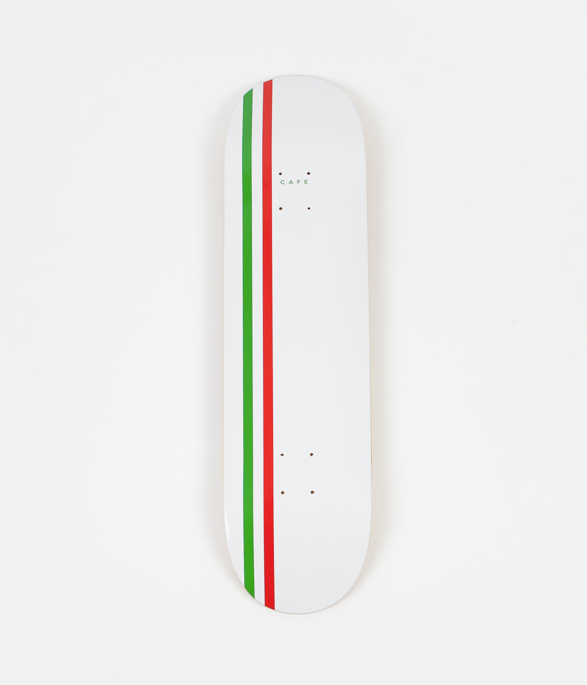 Skateboard Cafe Stripe Deck - White / Green / Red - 8.25""