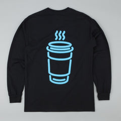 Skateboard Cafe Neon Cup Long Sleeve T-Shirt - Black