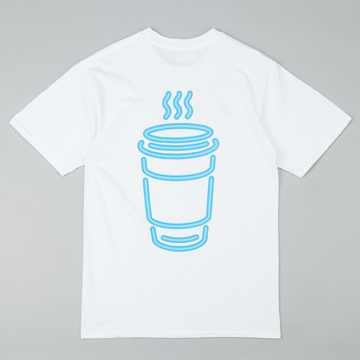 Skateboard Cafe Neon Cup T-Shirt - White