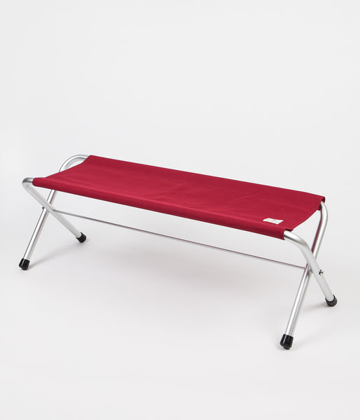 Snow Peak Folding Bench Seat - Red