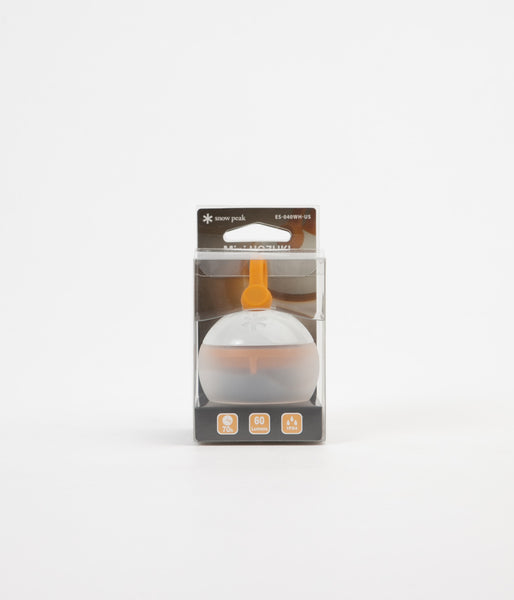 Snow Peak Mini Hozuki LED Candle Lantern - White / Orange