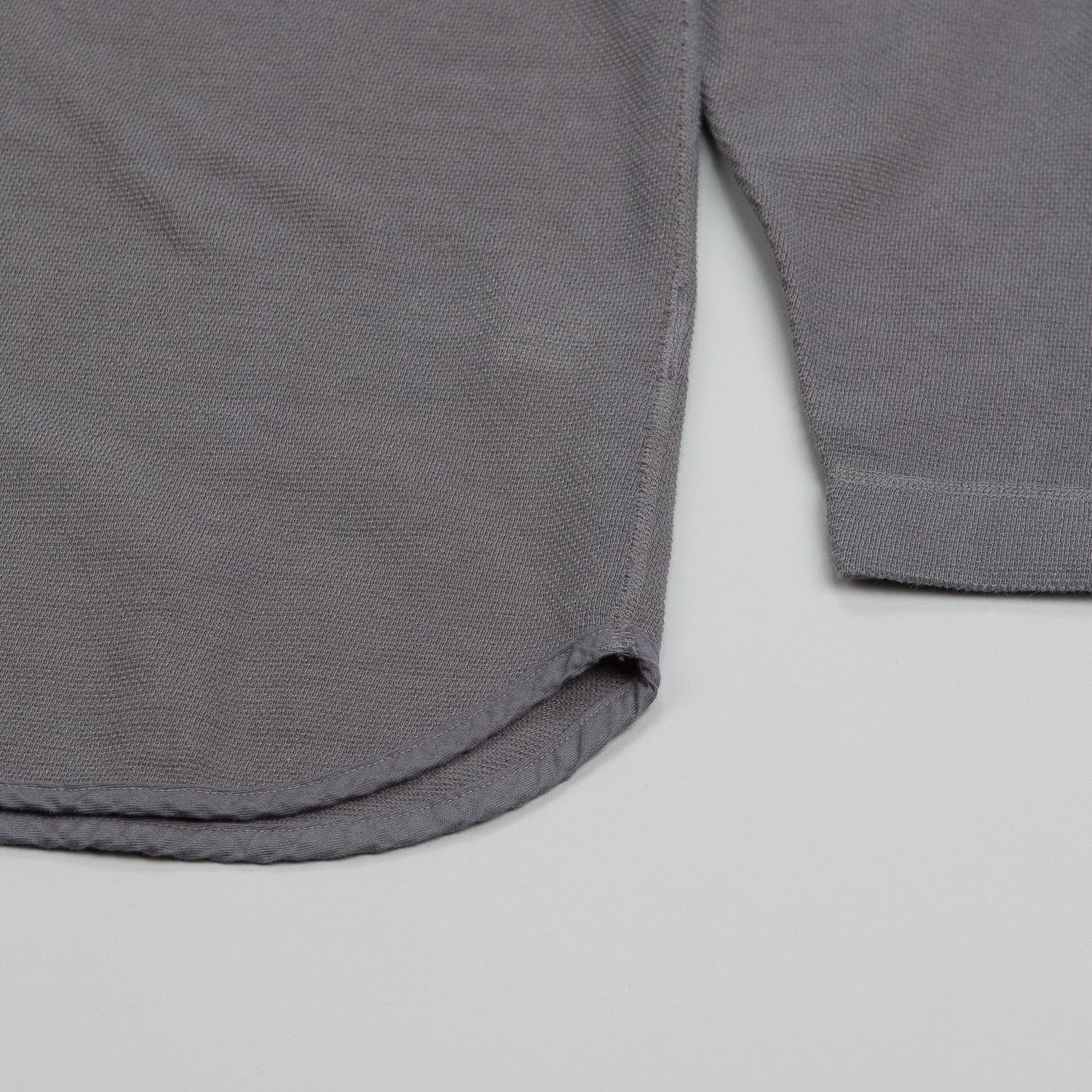 Snow Peak Over-Dyed Henley Long Sleeve Thermal Grey