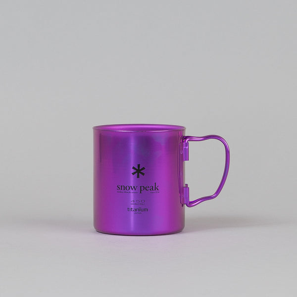 Snow Peak Titanium Double Wall Cup 450 Coral Reef Purple