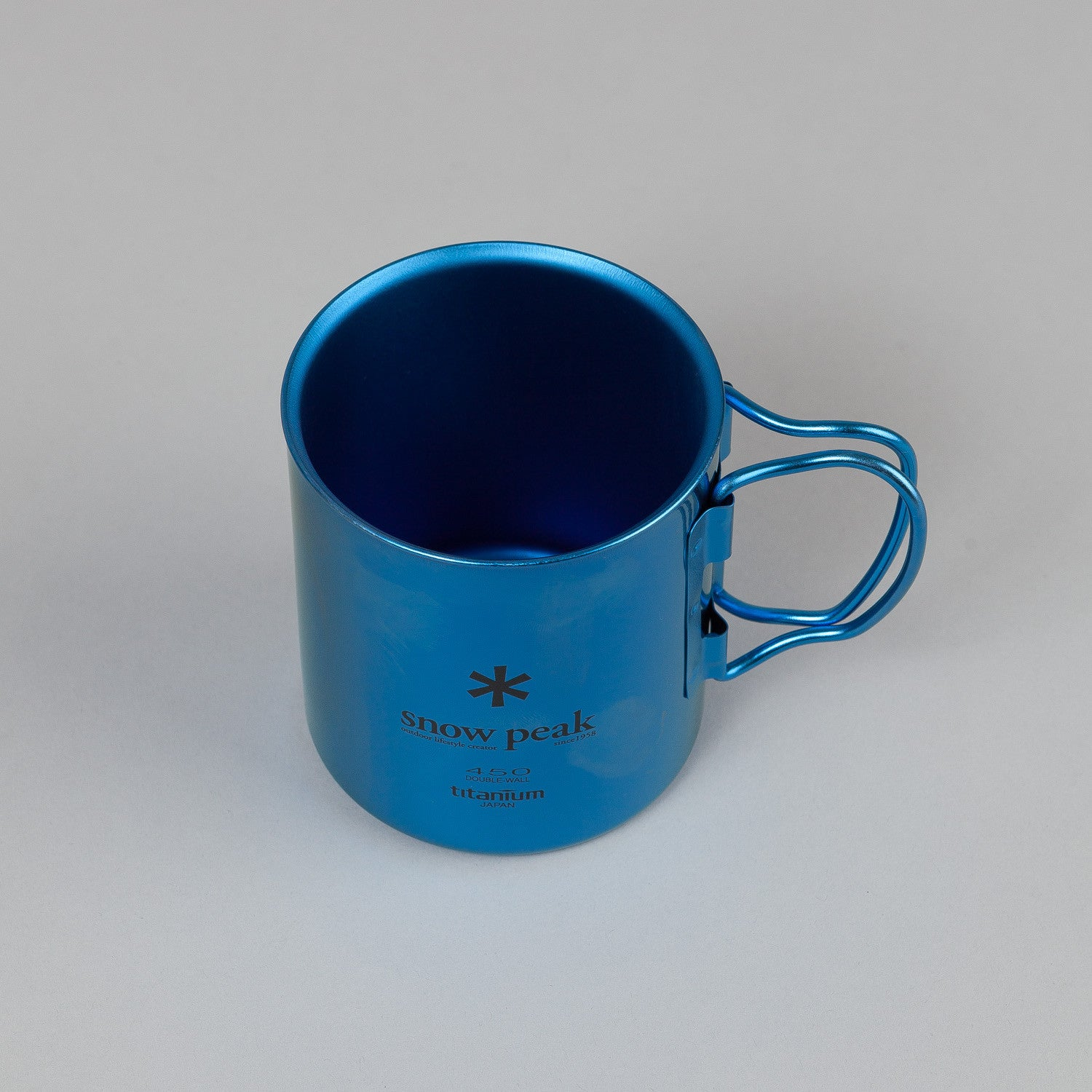Snow Peak Titanium Double Wall Cup 450 Fresh Water Blue