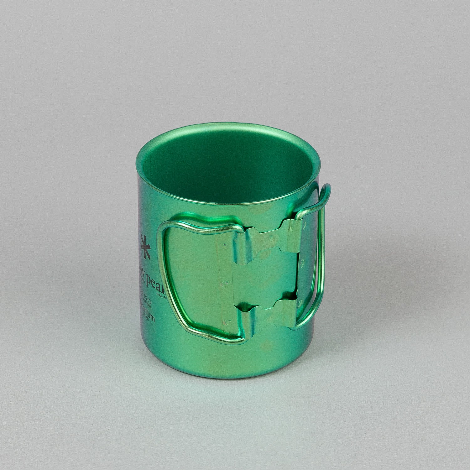 Snow Peak Titanium Double Wall Cup 450 Ocean Green