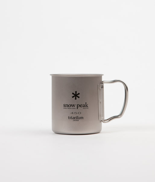 Snow Peak Titanium Single Wall 450ml Mug - Silver