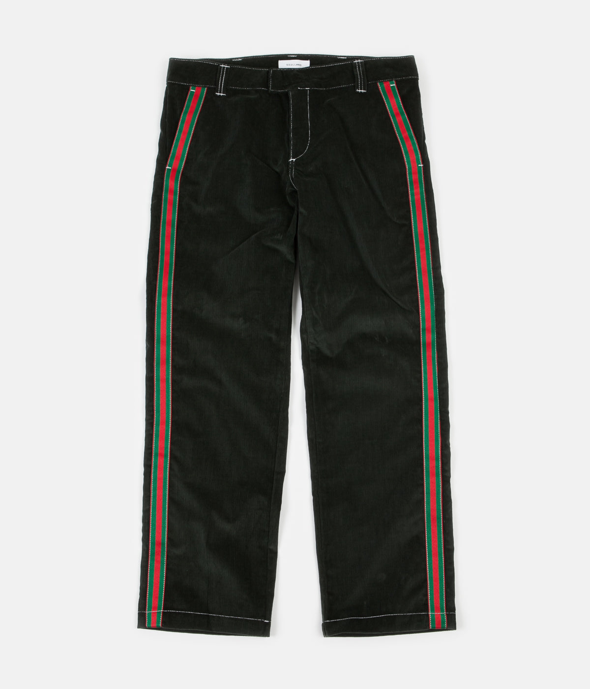 Soulland Greco Corduroy Trousers - Dark Green