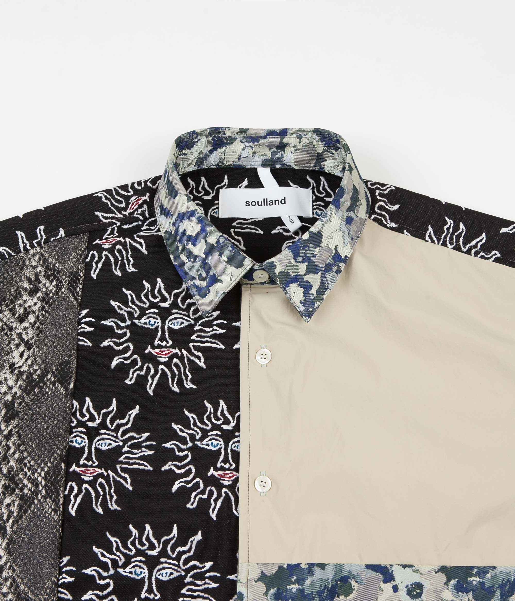 Soulland Malingo Patchwork Shirt - Multi