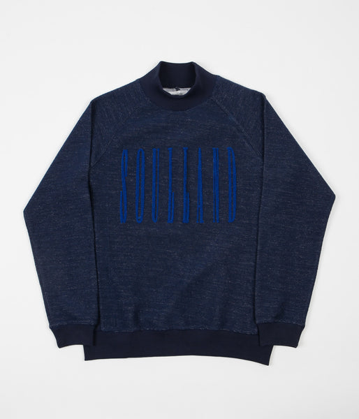 Soulland Albert Turtleneck Sweatshirt - Navy