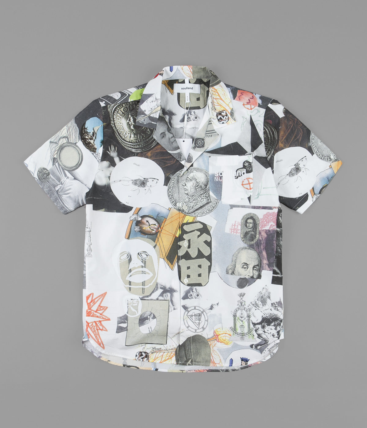 Soulland x Numbers Collage Button Up Shirt - Multi