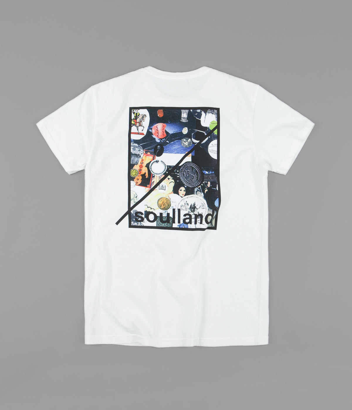 Soulland x Numbers Collage T-Shirt - White