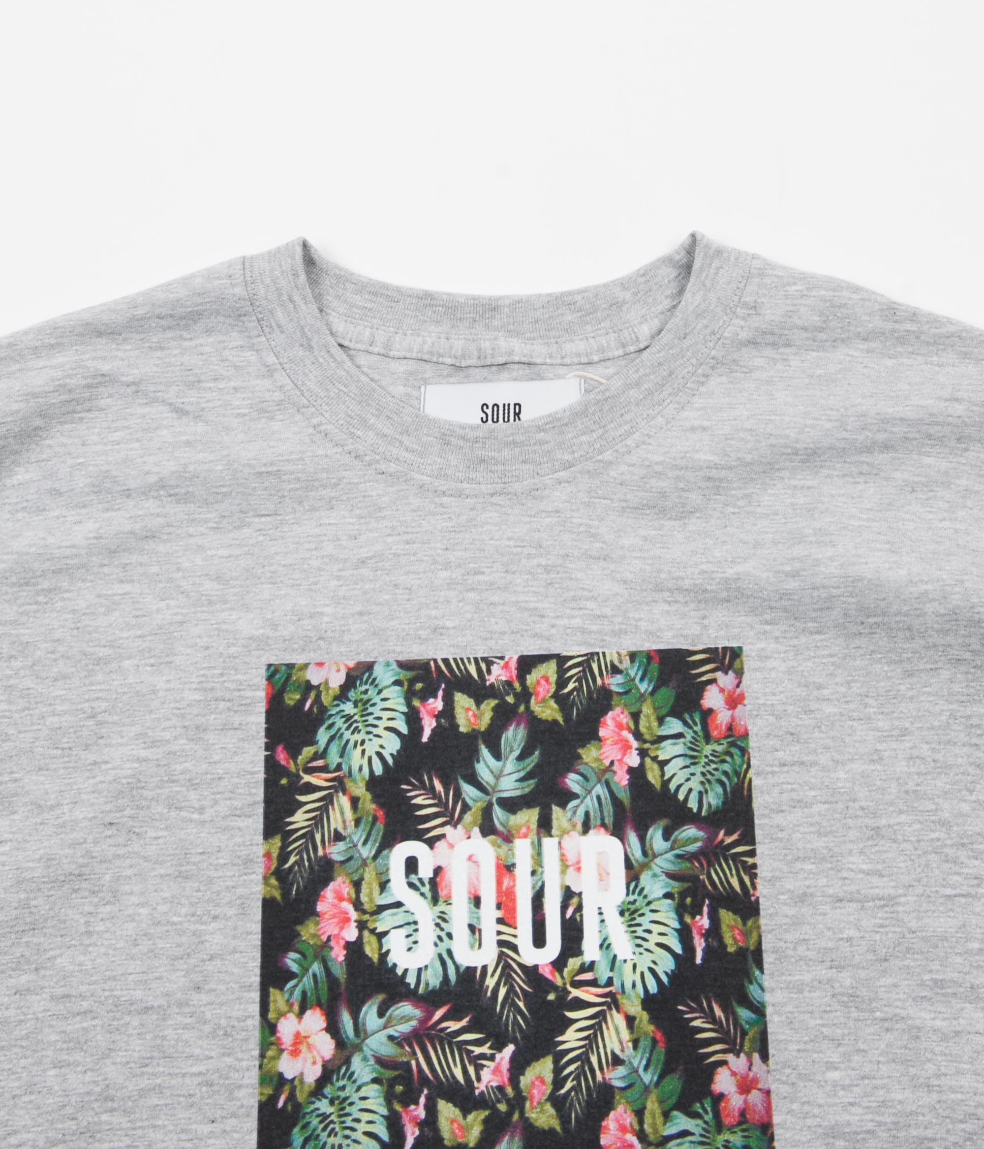 Sour Skateboards Floral T-Shirt - Heather