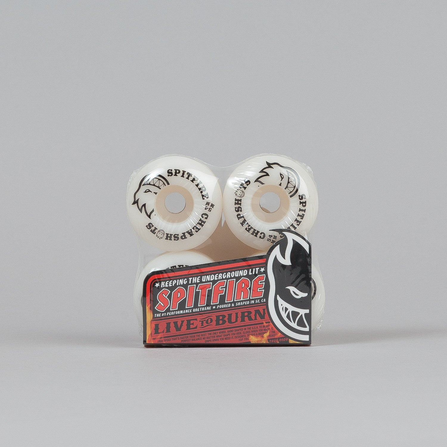 Spitfire Cheapshots Wheels White 54mm