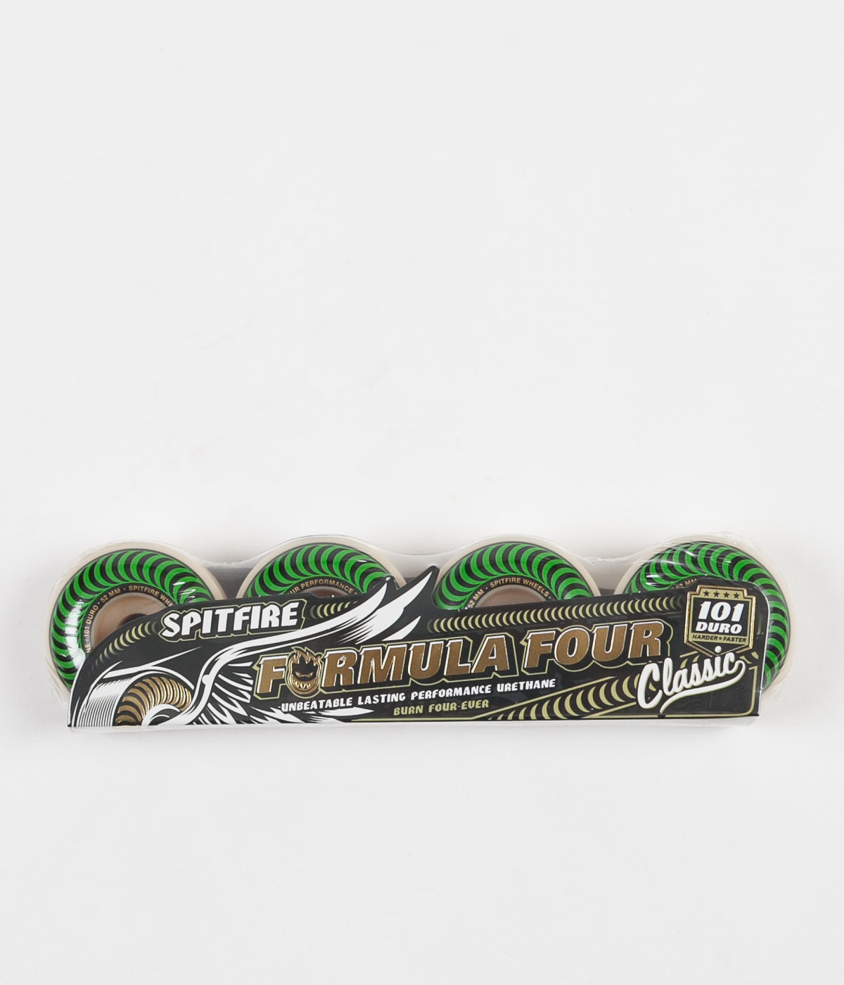 Spitfire Formula Four Classic 101DU Wheels - Green - 52mm