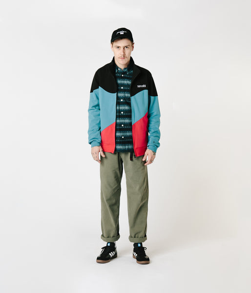 Parra Succes Track Jacket - Black / Blue / Red