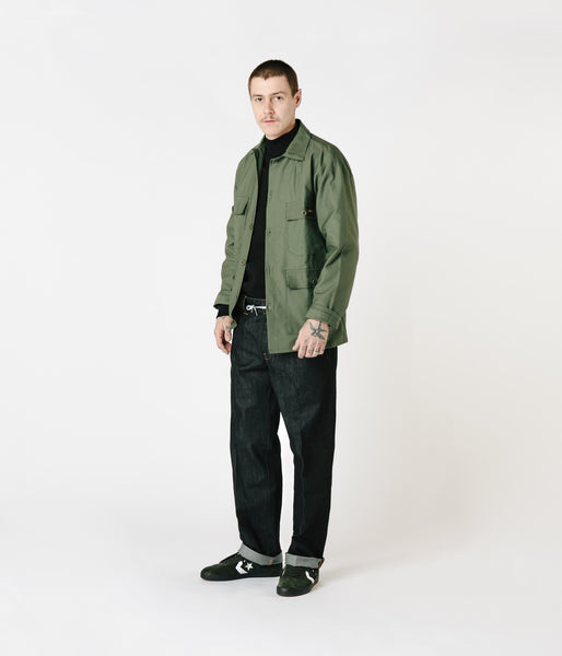 Stan Ray Four Pocket Military Jacket - Olive Sateen